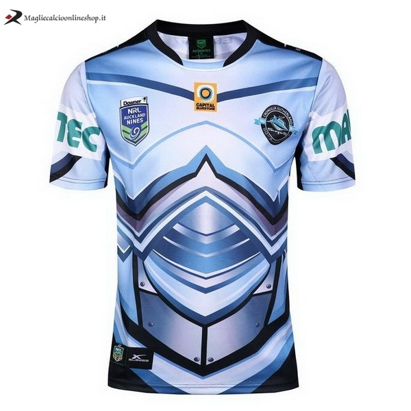 Maglia Rugby Cronulla Sharks Auckland 9's 2017/2018 Blu