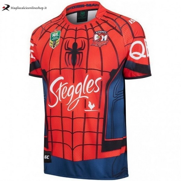 Maglia Rugby Sydney Roosters Spider Man Marvel 2017/2018 Rosso